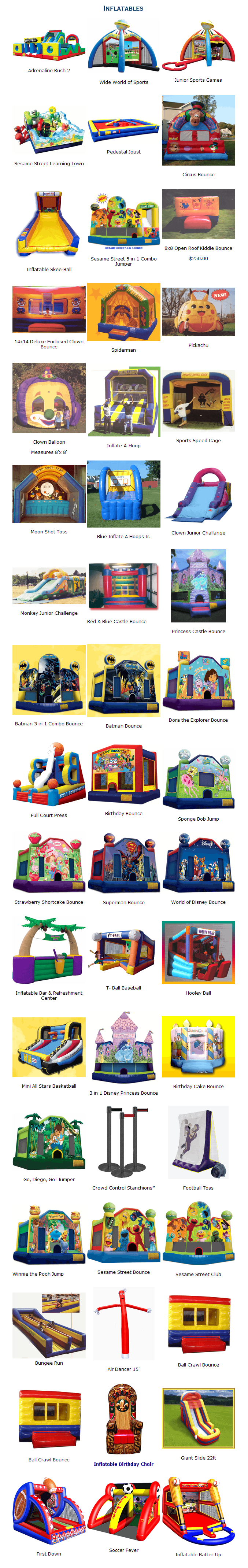 bouncing-castles